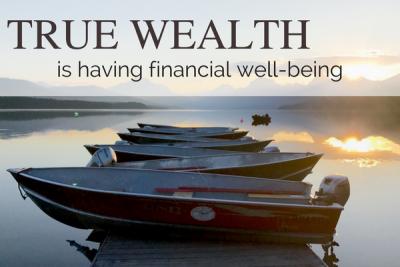 True wealth is financial well being