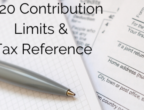 2020 Contribution Limits & Tax Reference