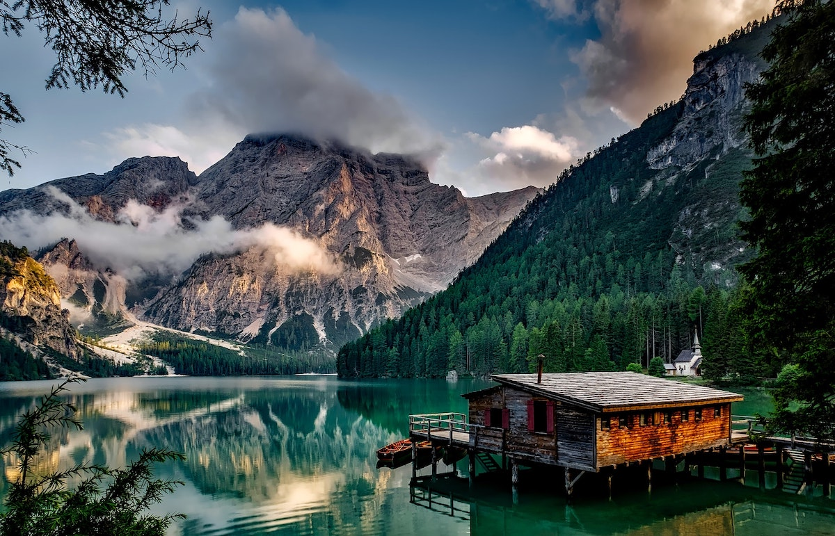 Log cabin on a lake in the mountains might face capital gains