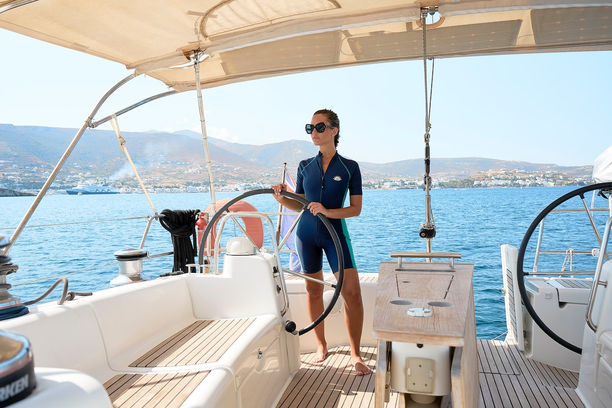Woman with sudden wealth steers a new yacht
